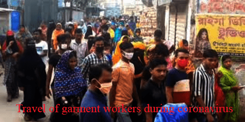 travel of garment workers during corona virus